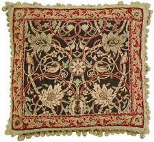 "20"" x 22"" Handmade Wool Needlepoint Petit Point William Morris Bird Pillow"