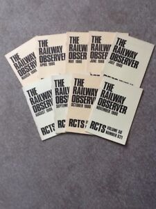 RCTS - THE RAILWAY OBSERVER - 1980 x 9