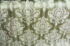 Green Stripes Damask Faux Silk Prestigious Curtain/Craft Fabric