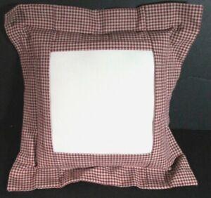"2x Needlecraft Supplies  12"" Tuck-A-Way Pillows/6"" Display/Red, Navy Checks-SD11"