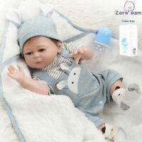 Lifelike Doll Washable Real Life Baby Newborn Reborn Doll Silicone Full Body Boy