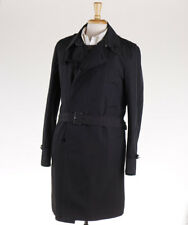 NWT $1375 COSTUME NATIONAL HOMME Black Trench Coat M (Eu 50) Outer Jacket
