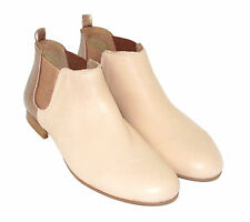 Ankle 100% Leather Slip On Boots for Women
