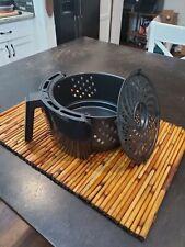 Power AirFryer XL 5QT Vortex Air Fryer PLUS REPLACEMENT BASKET In Black