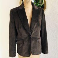 J Crew Chocolate BROWN Corduroy Single Button Blazer Jacket I Size 6 I Small