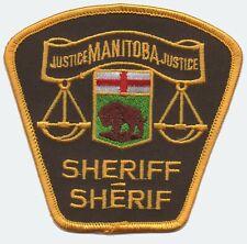 Manitoba, Canada Sheriff Shoulder Patch 1980s