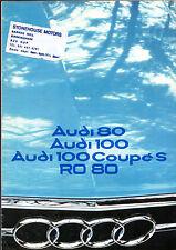 Audi NSU 1975-76 UK Market Sales Brochure 80 100 Ro80