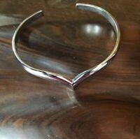 Vintage Avon * Silver Tone Cuff  Bracelet Modern Design Simplistic