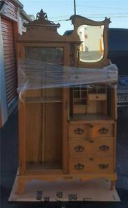 Amazing 1890's Golden Oak Secretary Bookcase - NEEDS TLC - GORGEOUS DETAILS