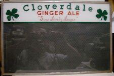 1930's Cloverdale Ginger Ale ROG License Sign - Newville, PA