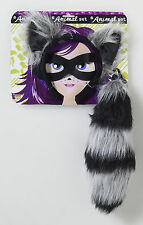 Kids Raccoon Ears Tail & Mask Combo Set Woodland Creature