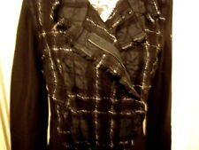 Beate Heymann Blazer Jacke Gr. 42 sehr wenig getragen schwarz weiß