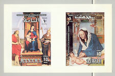 Ajman & Manama 1970 Christmas Art Durer 1v Collective Sheet of 2 S/S