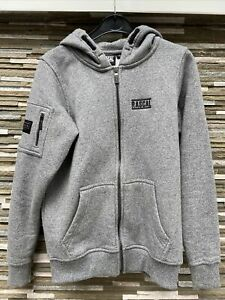 Boys Rascal Fleece Lined hoodie in Grey Age 11-12 Years LB VGC!