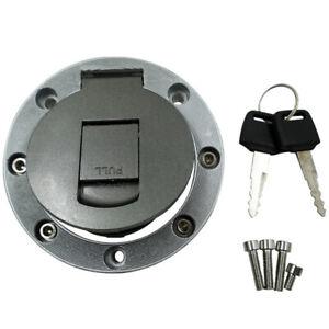 Universal Motorbike Motorcycle Metal Front Fuel Gas Tank Cap Lock  With 2 Keys
