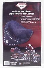 Diamond Plate Gel Memory Foam Motorcycle Seat Cushion Non-Skid Base
