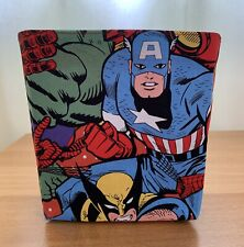 Handmade lined fabric storage box - Marvel Design - toiletries, nappies, toys