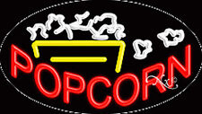 """New """"Popcorn"""" 30x17 Oval Solid/Flash Real Neon Sign w/Custom Options 14367"""