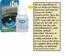 Itis Ayurvedic Eye Drops Aqueous extracts of Turmeric Yamini Honey Sandalwood