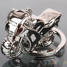 Silver Keychain Fashion Cute Lover Motorcycle Key Ring Chain Motor