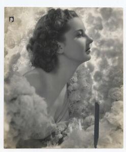 BARBARA READ 1939 Vintage Hollywood Portrait DREAMY PROFILE
