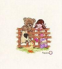 Popcorn Bear Friends To Lean On Cross Stitch Kit PJ7 16 Count