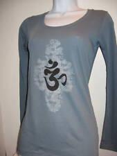NEW Alternative American Apparel ORGANIC OM AUM Sanskrit long sleeve shirt yoga