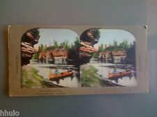 STC357 Amérique Paysage Wisconsin couleurs STEREO Photography Stereoview