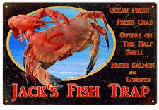 Jacks Fish Trap Restaurant Advertisement Sign