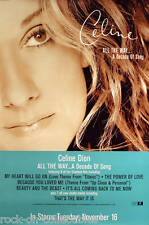 Celine Dion 1999 All The Way Original Promo Poster