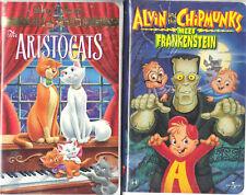 The Aristocats (VHS) & Alvin & Chipmunks Meet Frankenstein (VHS)