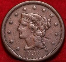 1856 Philadelphia Mint Copper Braided Hair Large Cent
