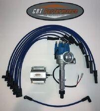 Pontiac 350 389 400 455 Small Cap Blue Hei Distributor 60k Coil Plug Wire Usa