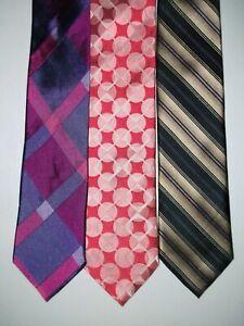 TED BAKER Lot of 3 Men's Silk Ties