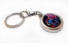 Iron Maiden Trooper Beer Bottle Cap Opener Key Chain / Ring Handmade Can Skull