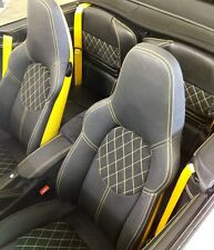Porsche 996 & 997 Seat Conversion to Custom Sport Seats Color Backs & Stitching