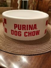 Vintage Purina Dog Chow Checkerboard Food Bowl - White/Red New Dead Stock