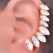 crystal long Ear Studs earrings hot gorgeous women Statement yellow glod filled
