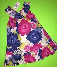 NEW! TCP Baby Girls Floral Dress Shirt 2T EASTER Gift! Summer Hawaii CUTE $19.95