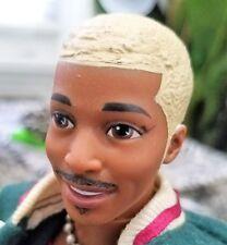 Steven Doll African American Painted Facial Hair Sisqó Inspired Redressed OOAK