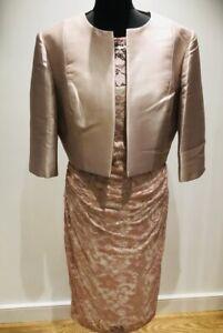 Stunning John Charles Blush Pink Lace Dress Size 16 Jacket Size 18 New