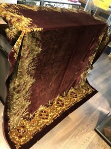 Victorian Velvet Tablecloth. Large In Size.