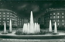 Ansichtskarte Wien bei Nacht Schwarzenbergplatz Hochstrahlbrunnen   (Nr.918)