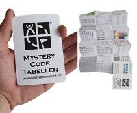 Geocaching Taschenplaner Mystery Lösungen Decodier Tabellen Buch Heft D5 Lösung