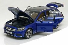 NOREV 2015 Mercedes Benz C Class Kombi S205 Blue Met. Dealer 1:18 Rare!