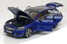 NOREV 2015 Mercedes Benz C Class Kombi S205 Blue Met. Dealer 1:18 Rare!
