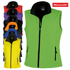 RESULT LADIES GILET SOFTSHELL BODYWARMER SLEEVELEES JACKET FLEECE WATERPROOF NEW
