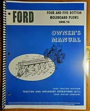 Ford Series 118 4 Amp 5 Bottom Moldboard Plow Owner Operators Manual Se 8789 863