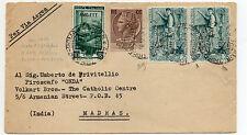 "STORIA POSTALE 1955 REPUBBLICA AFFRANCATURA MISTA REP/TRIESTE ""A"" Z/1710"