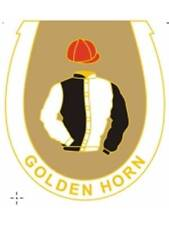 Golden Horn enamel badge - in his racing colours